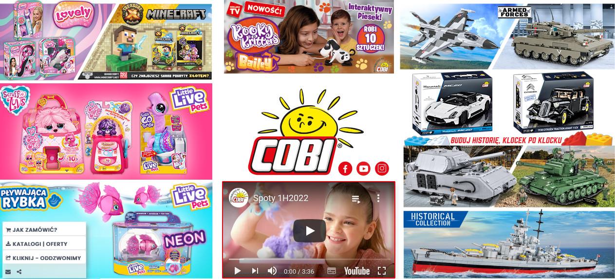 Stoisko targowe firmy Cobi